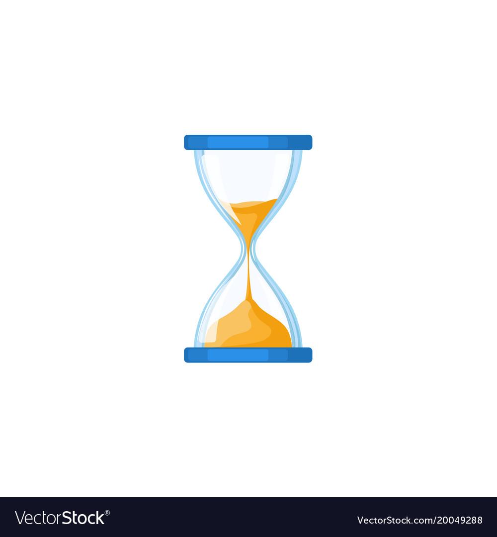 Hourglass hour-glass sandglass sand-glass icon vector image