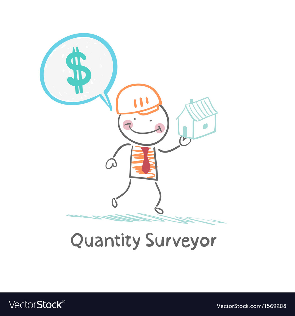 Quantity Surveyor holds a house and thinking about