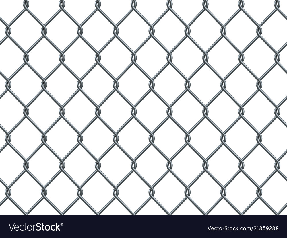 Seamless metal industrial wire pattern on white