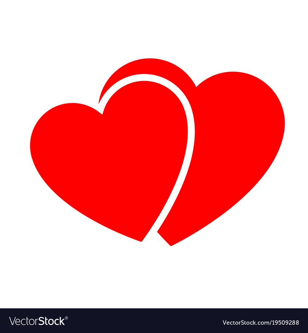two hearts web icon royalty free vector image vectorstock rh vectorstock com free vector heart images free vector heart outline
