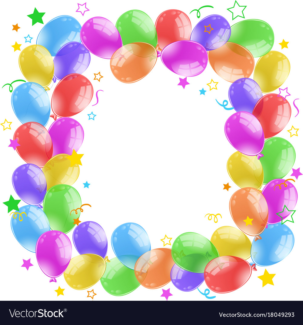 Border design with colorful balloons royalty free vector border design with colorful balloons vector image thecheapjerseys Images