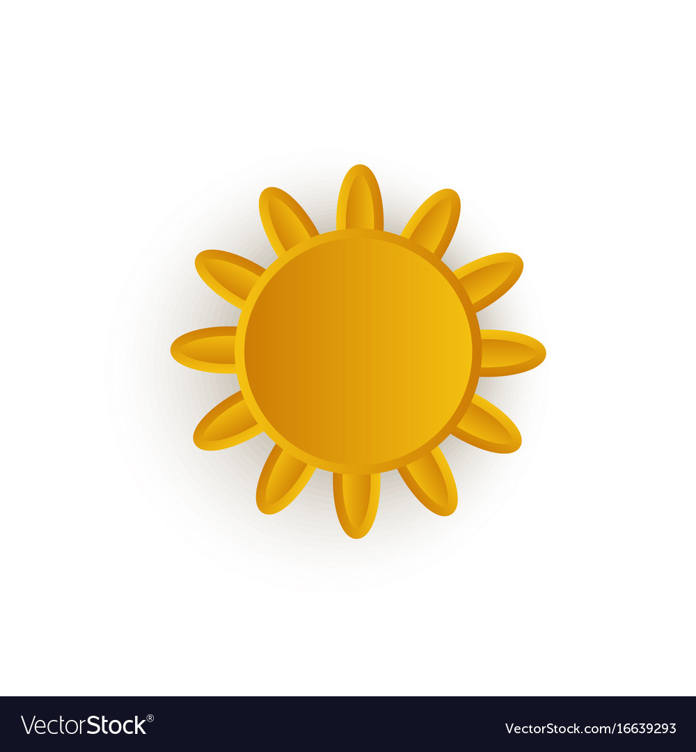 Cartoon sun icon symbol isolated