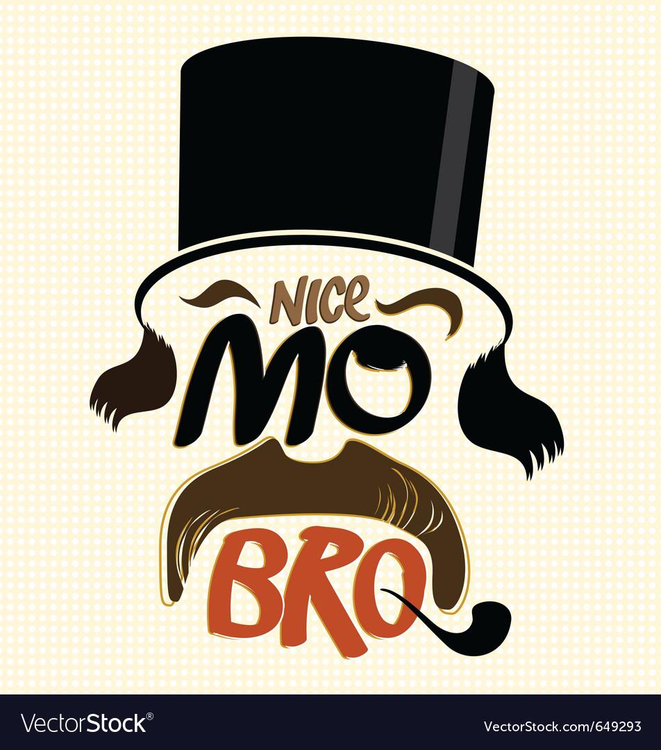 Movember design vector image