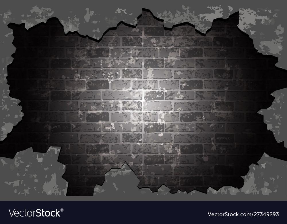 Old brick wall black