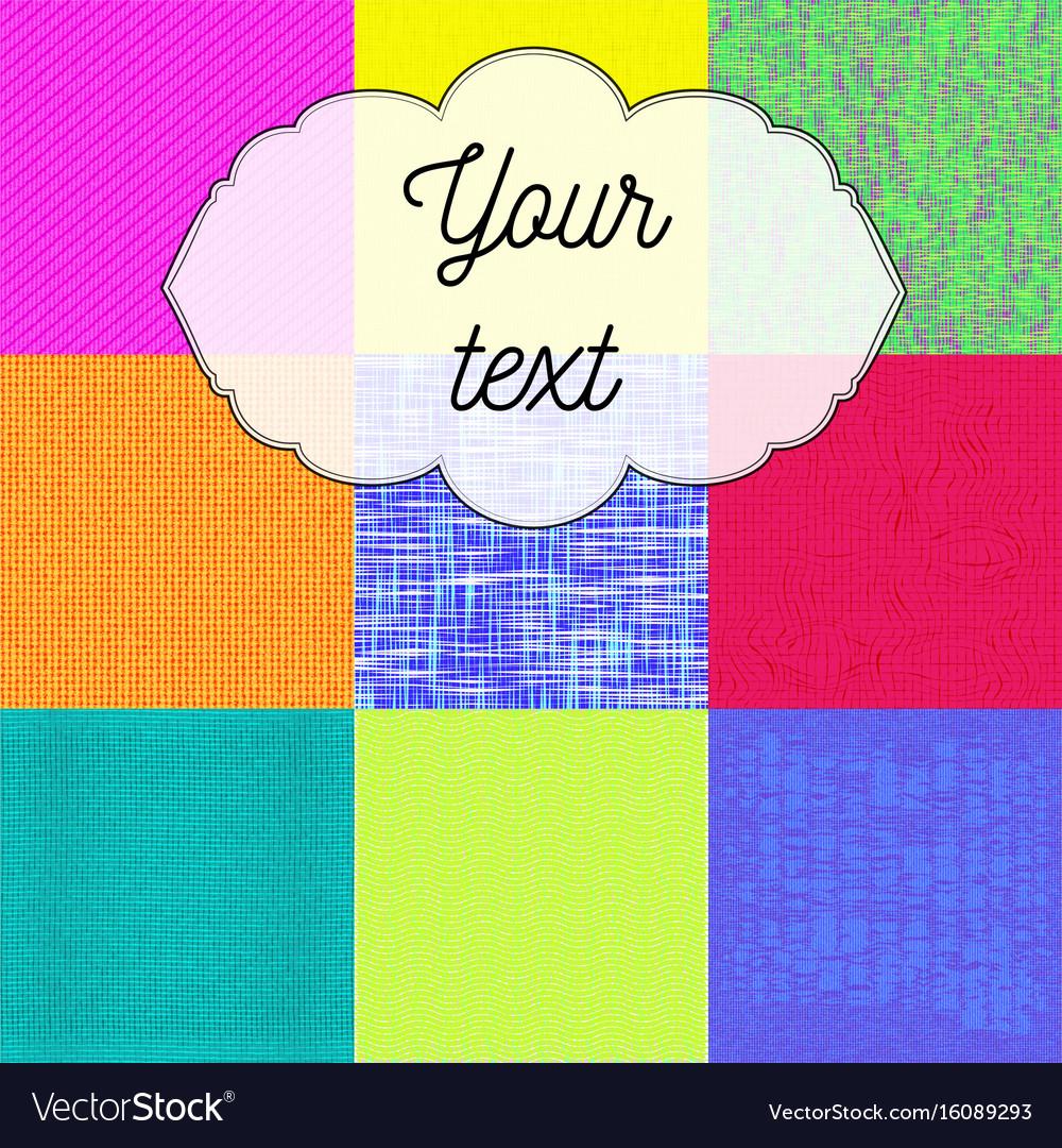 Textil pattern vector image
