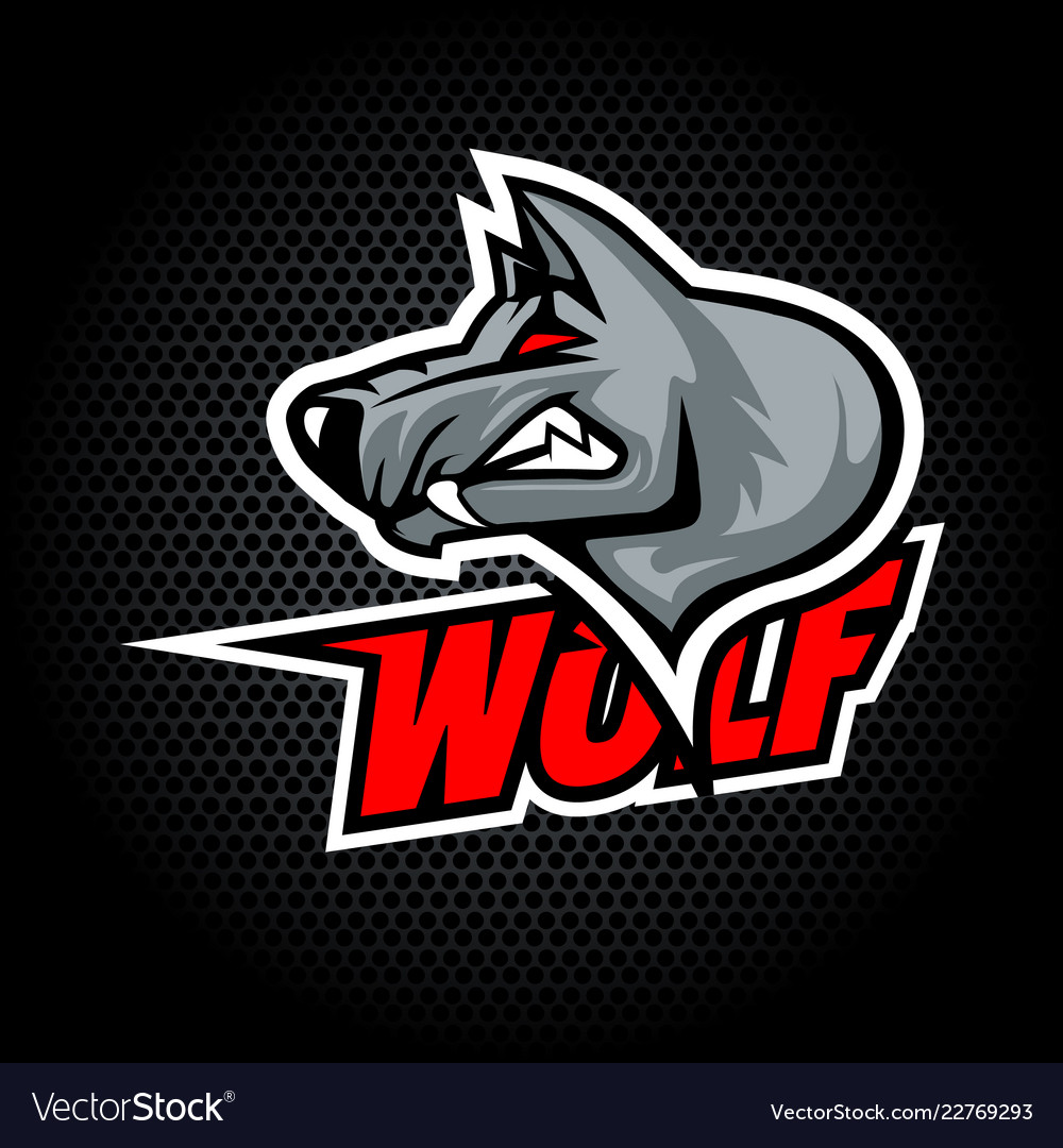 Wolf head from side can be used for club or team