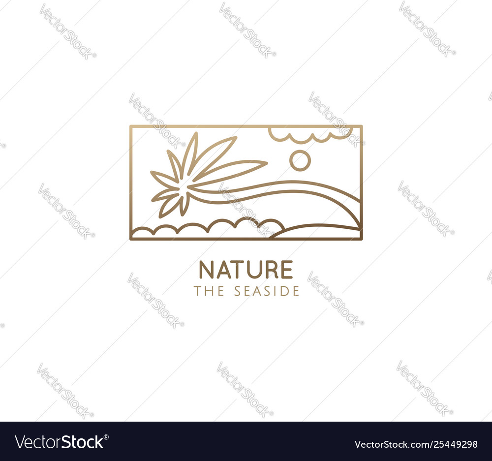 Abstract tropic logo restor with palm