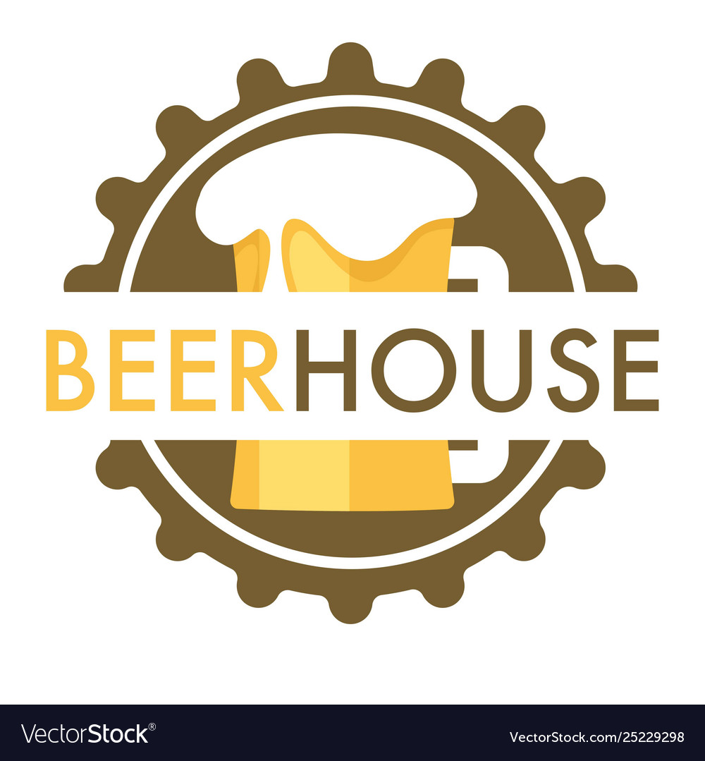 Beer house isolated icon cap and mug with foam