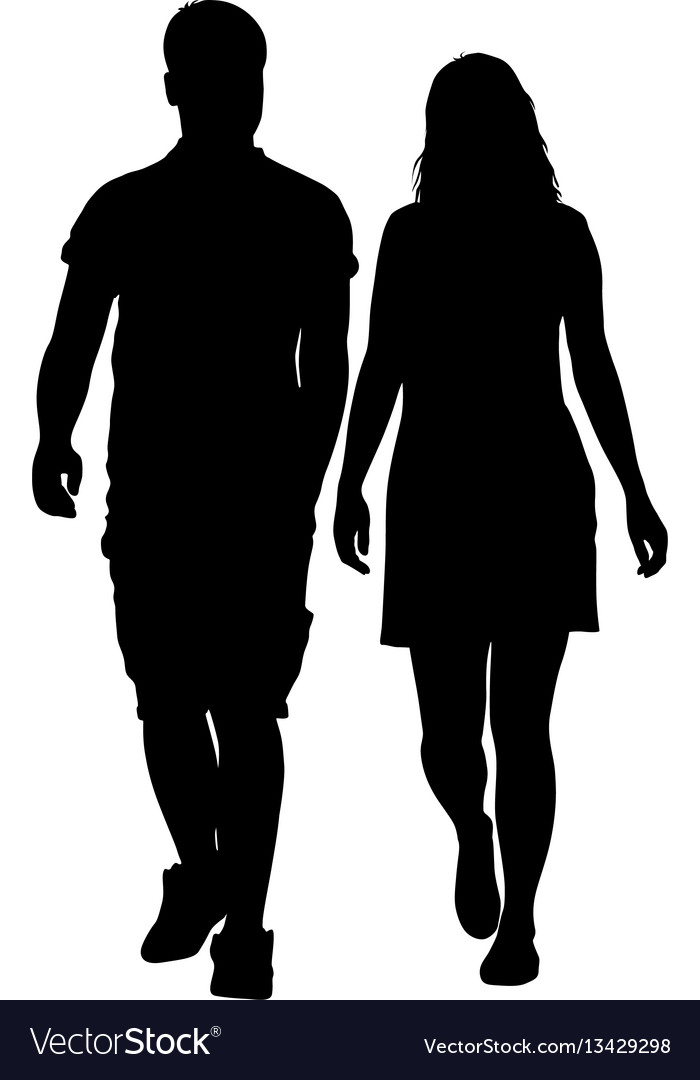 Download Man And Woman Silhouette