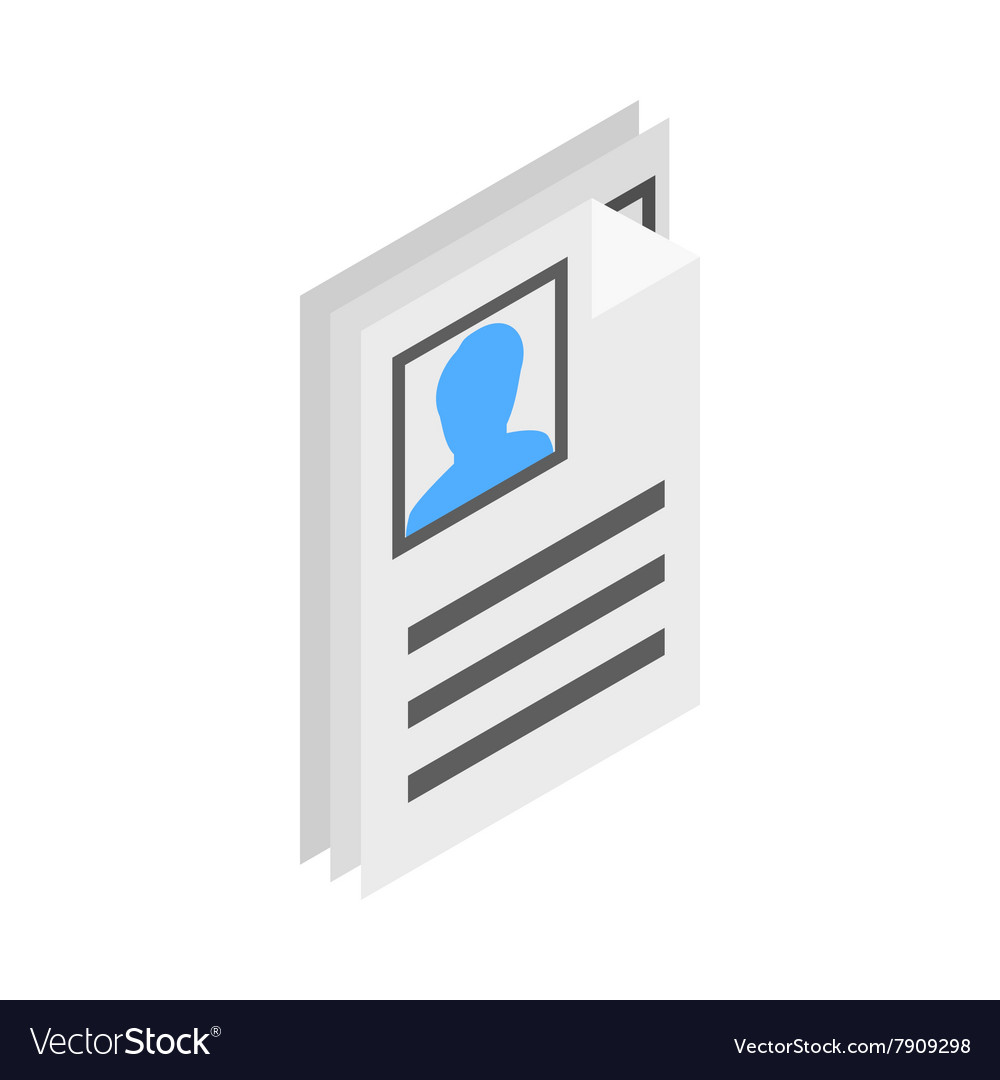 Identification card icon isometric 3d style
