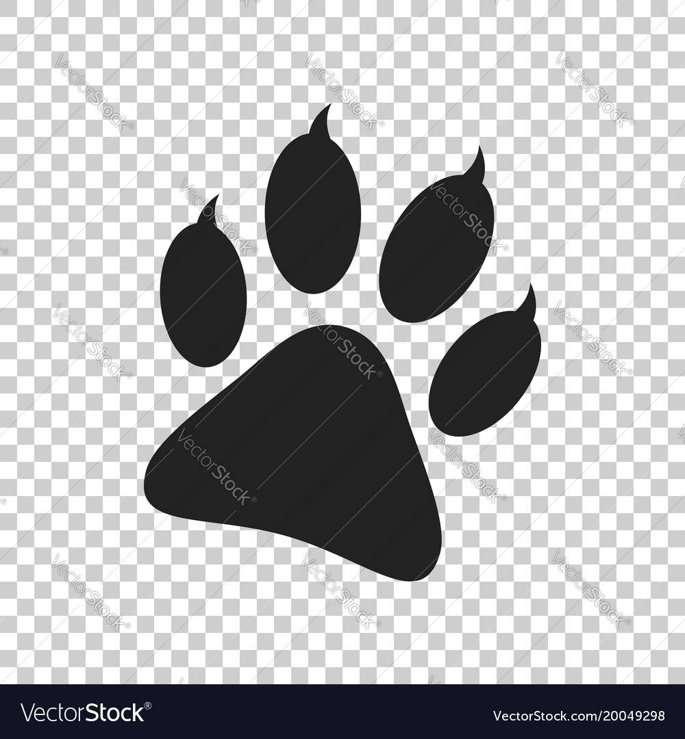 Paw print icon isolated on isolated background