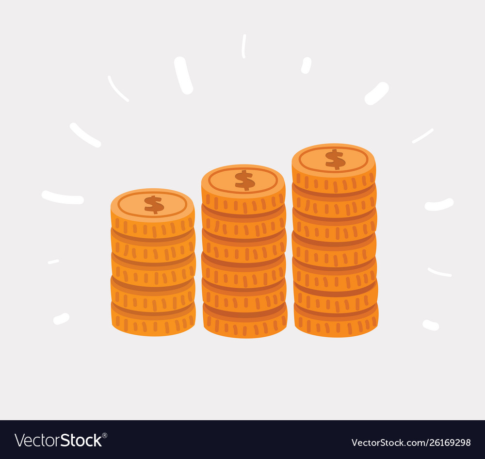 Stack golden coin like income