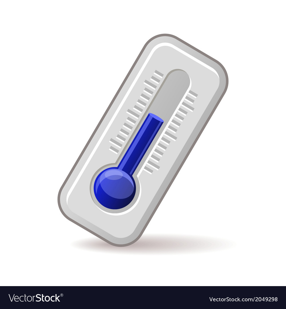 Thermometers Icon With Blue Level vector image