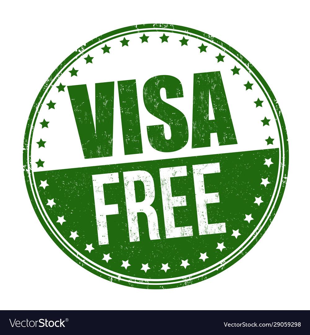 Visa free sign or stamp