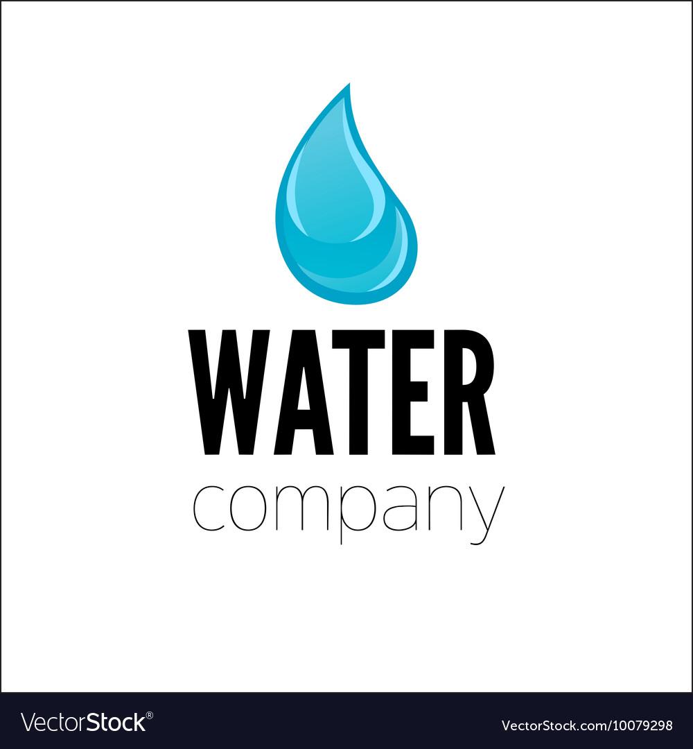 Water drop Logo design template