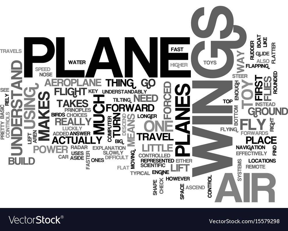 What makes an aeroplane fly text word cloud