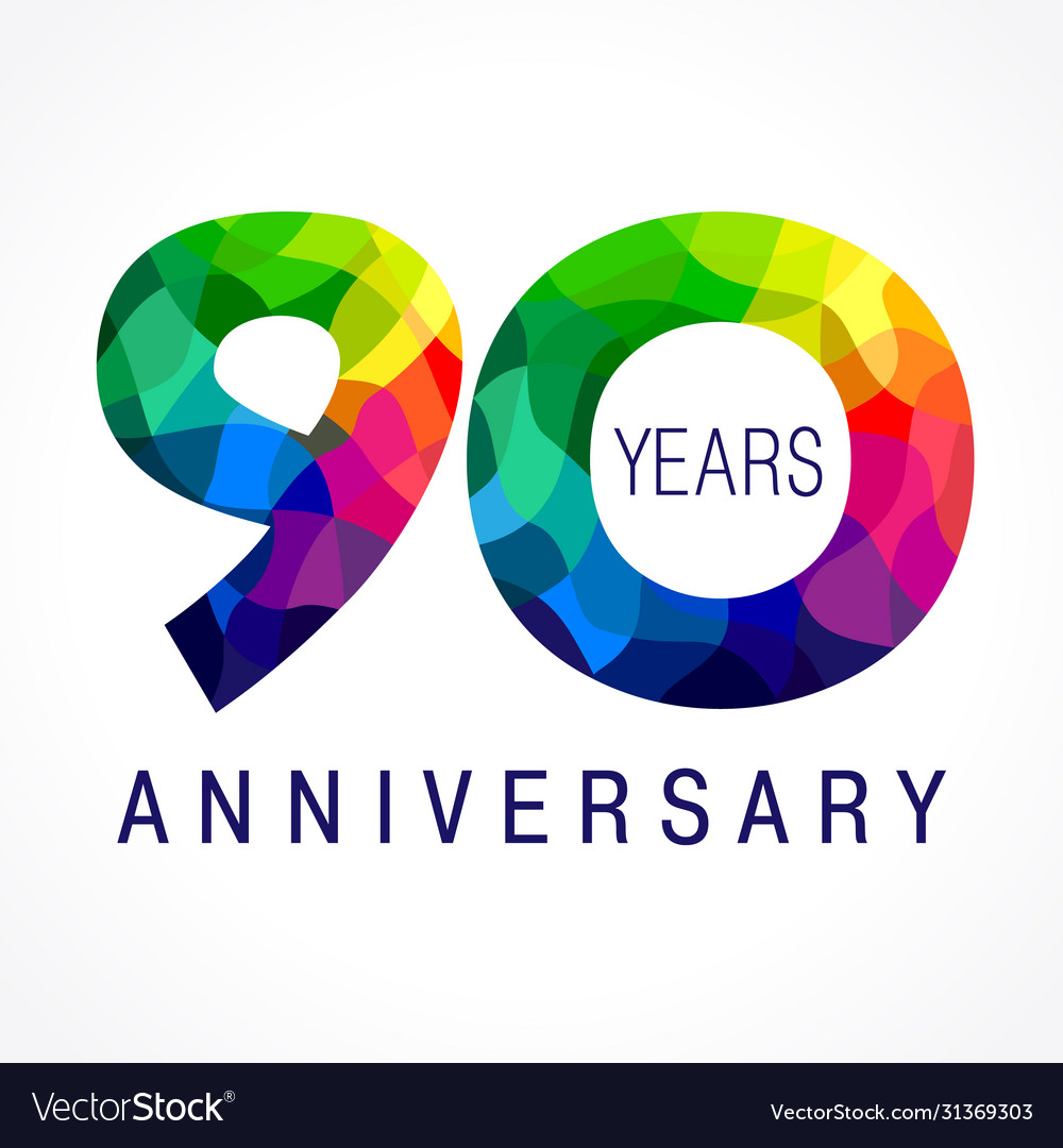 90 anniversary facet color logo