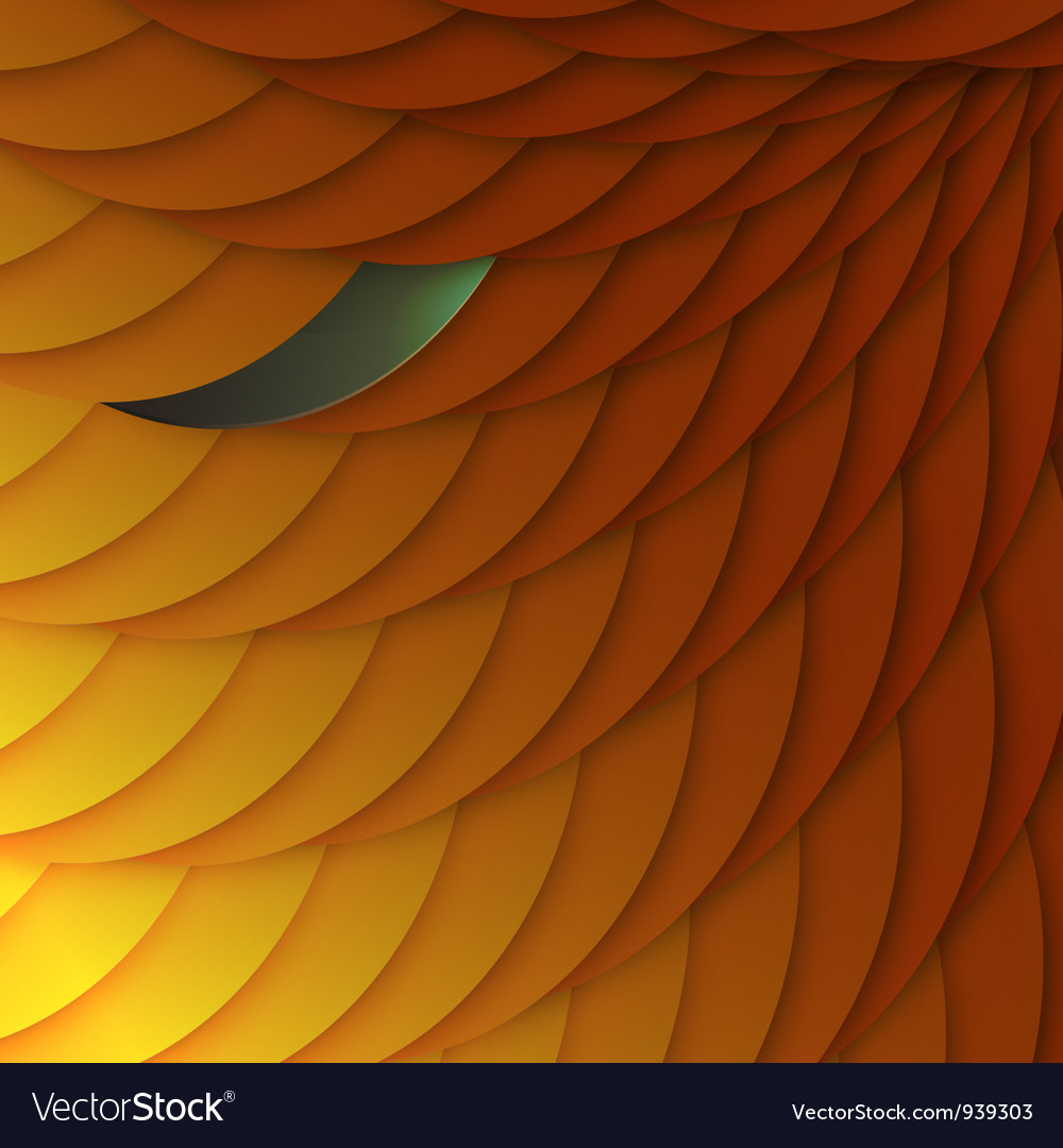Abstract background of orange scales with color