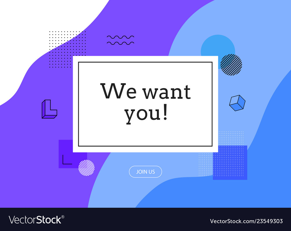 Abstract background we want you join us