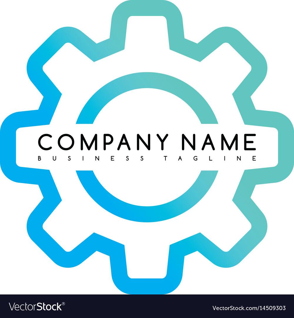 Cog setting brand template logo logotype theme art