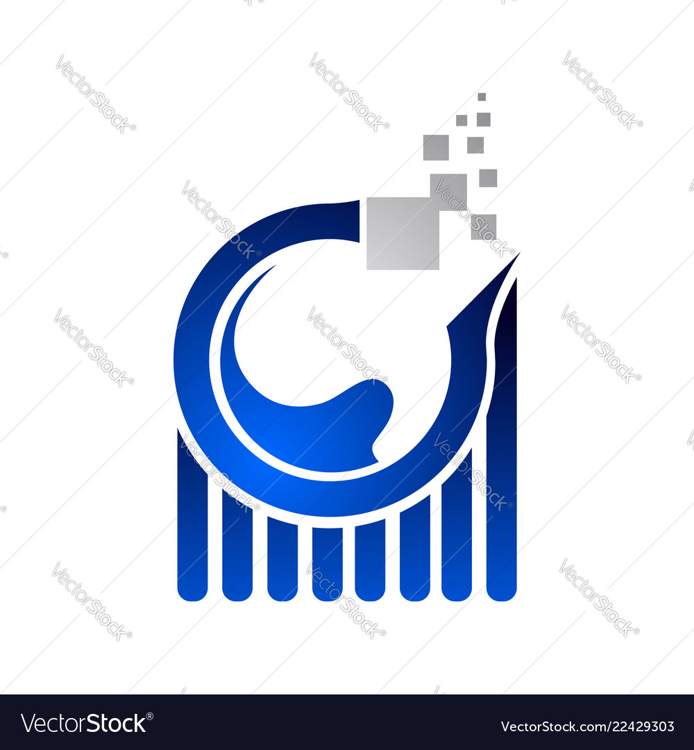 Data analysis worksheet internet logo on blue