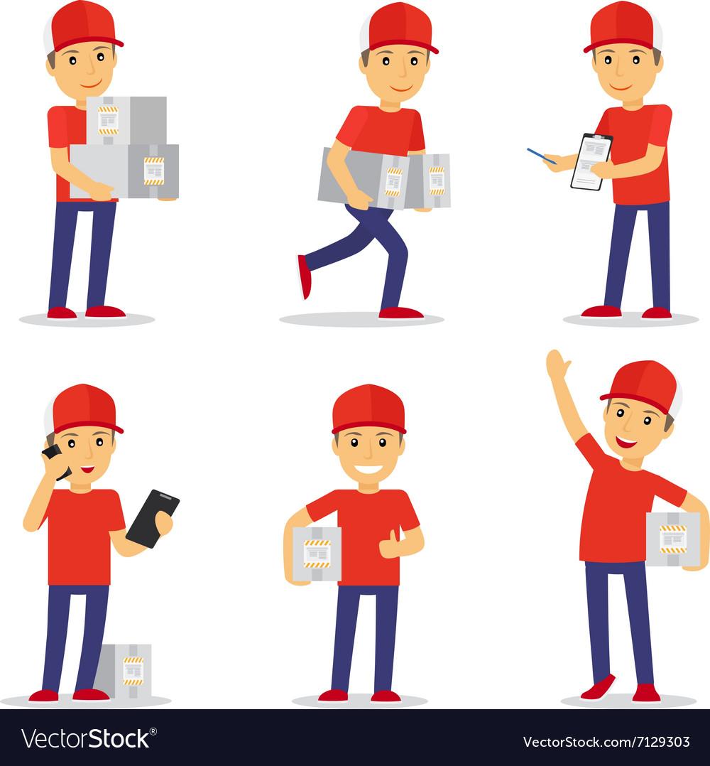 delivery man royalty free vector image vectorstock
