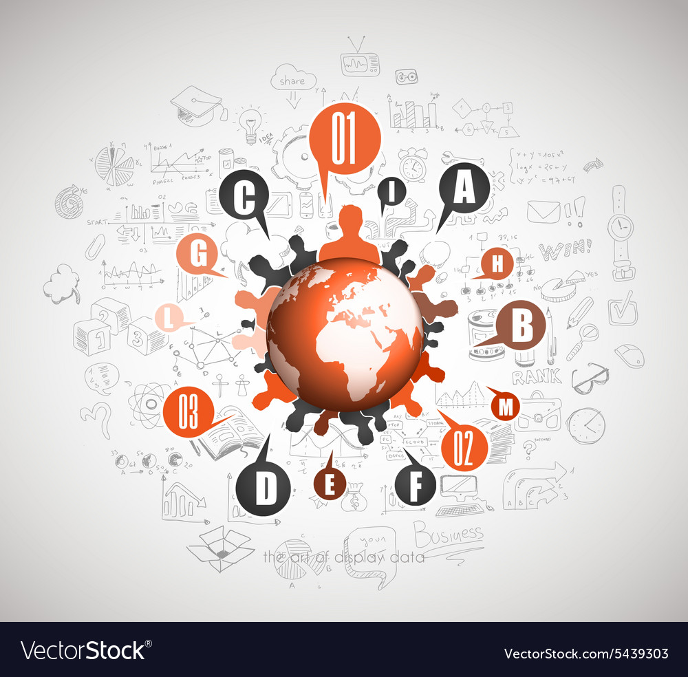 Flat Style Concept for Social Media Agenda vector image