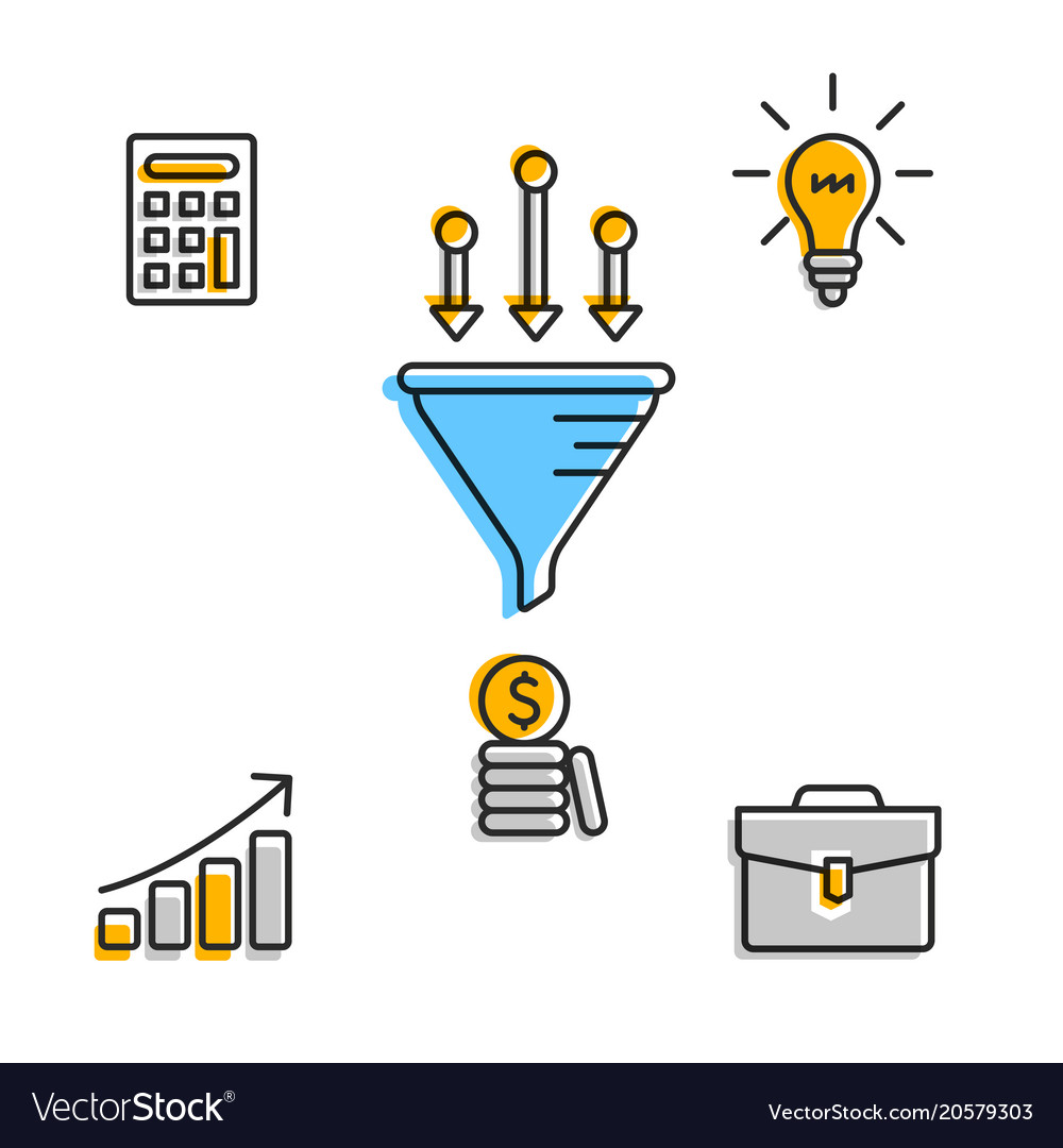 infographic icons for business startup royalty free vector