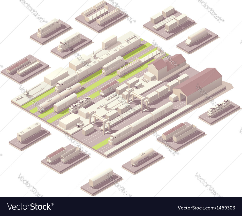 Isometric railroad yard