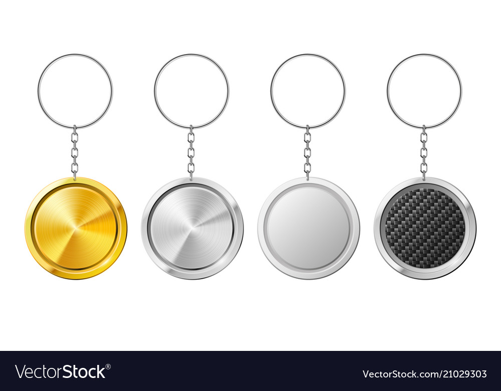Realistic 3d key ring template plastic keychain