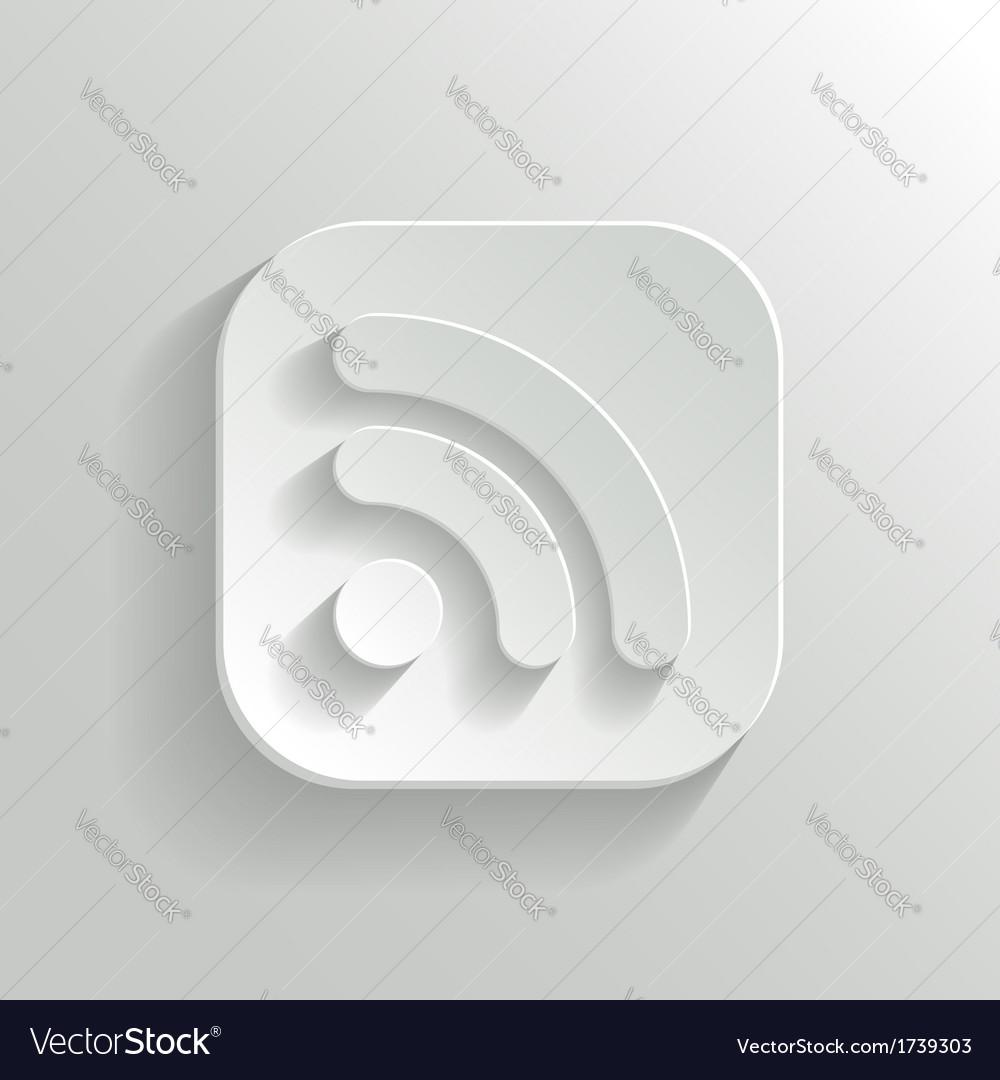 RSS icon - white app button