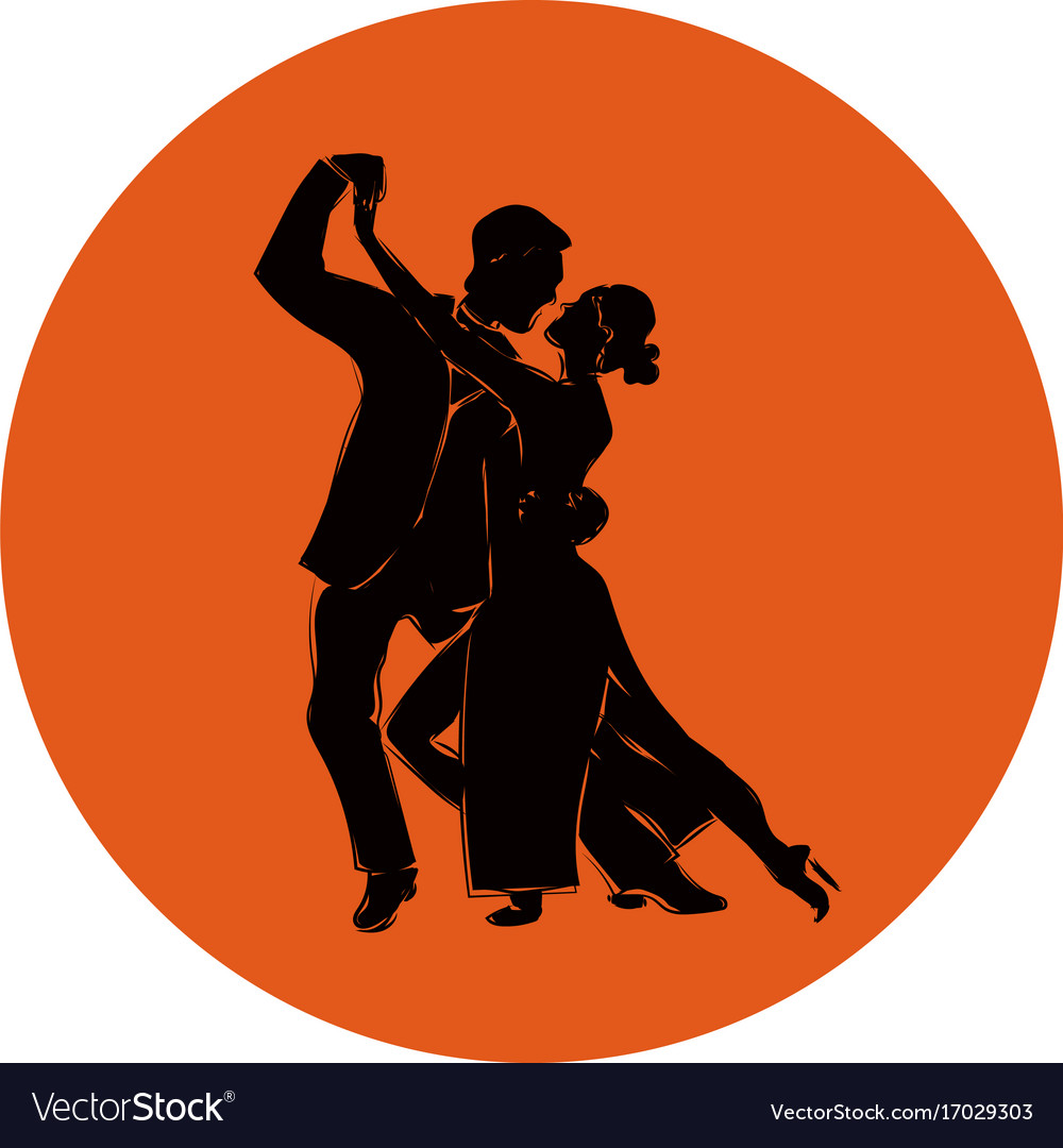 Salsa or argentine tango dancing couple man and