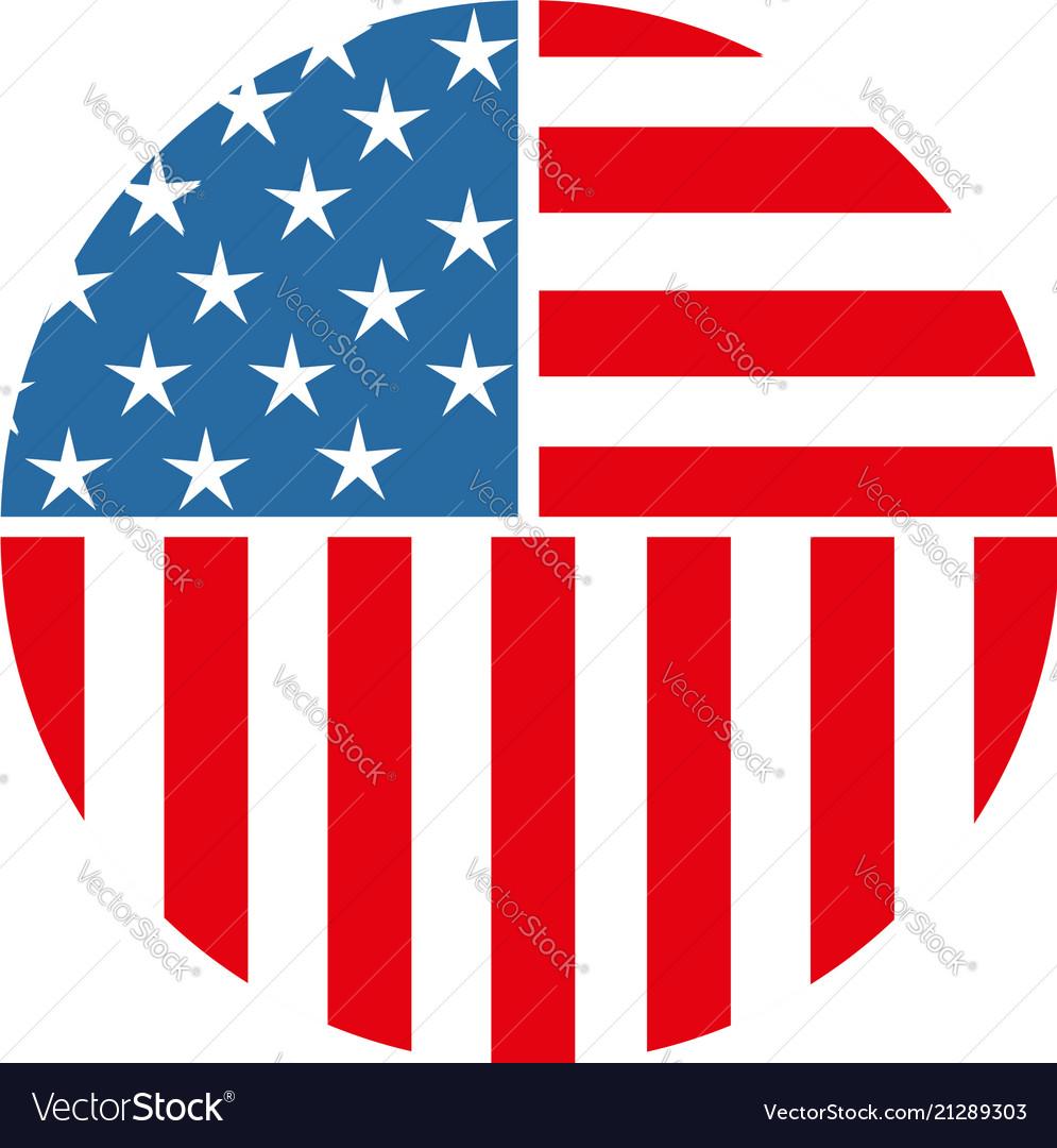 Usa american circle pin icon