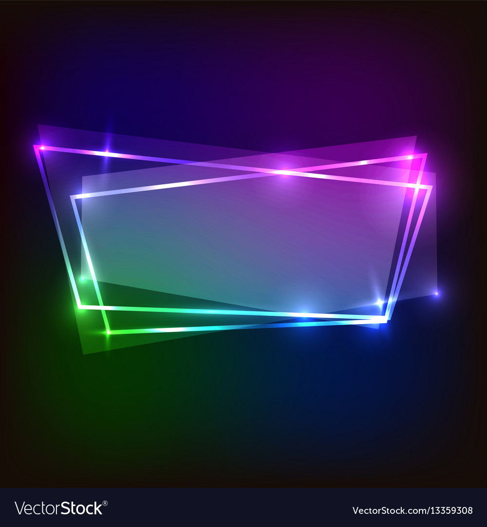 Abstract colorful banner neon background
