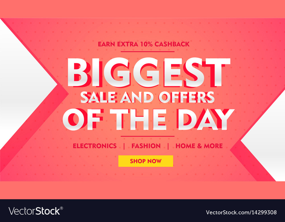 Biggest sale offer banner template for brand vector image