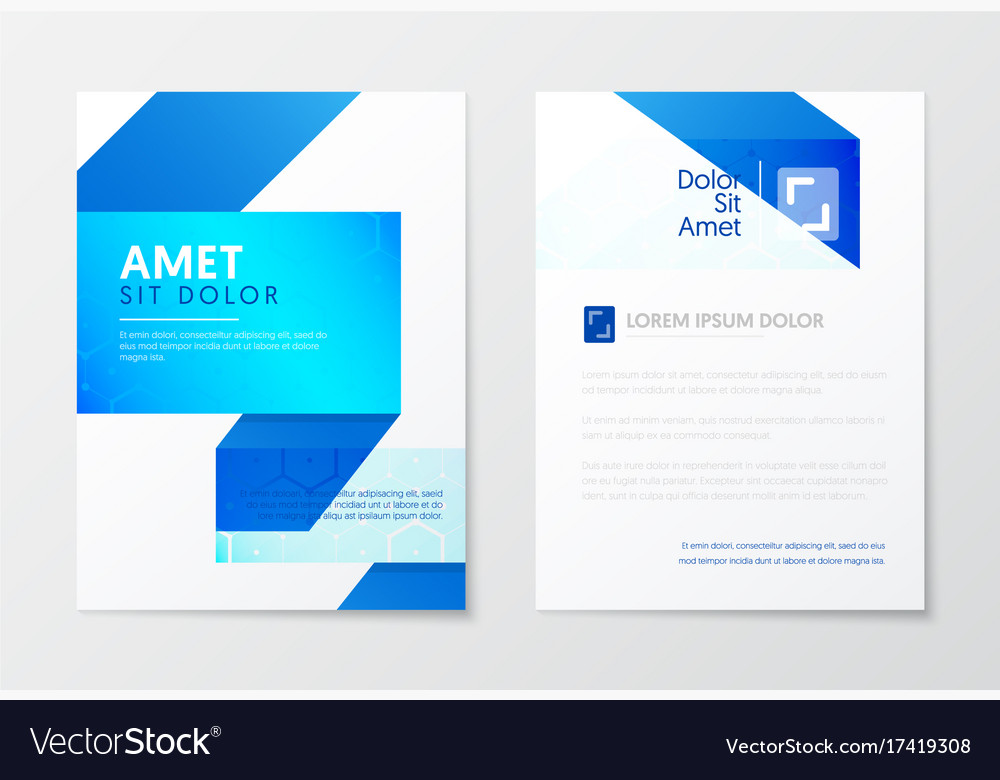 Blue annual report business brochure booklet