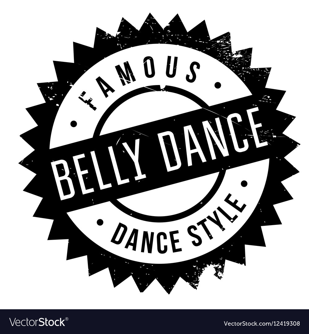 Famous dance style belly dance stamp