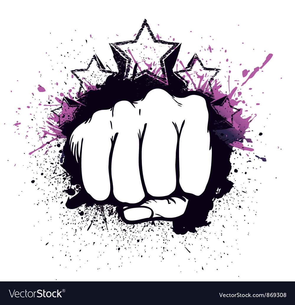 Fist with stars vector image