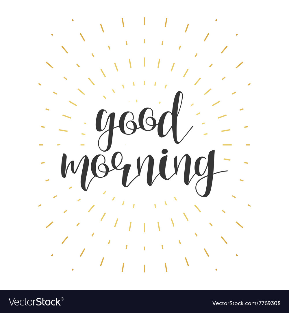 Good morning calligraphy phrase Quote calligraphy