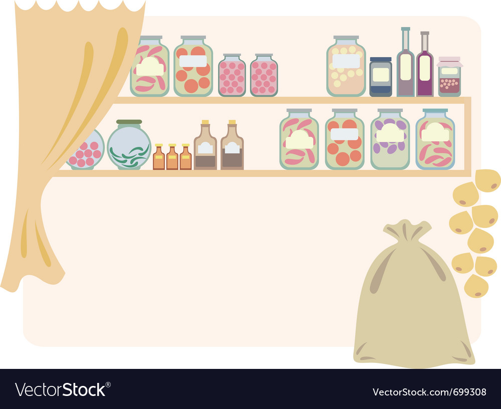 Home pantry for food vector image