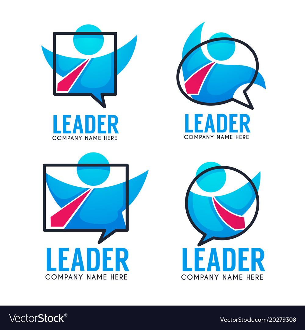 Leader of your business team logo emblems
