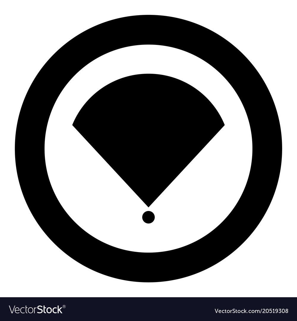 Location Or Radar Icon Black Color In Circle Vector Image