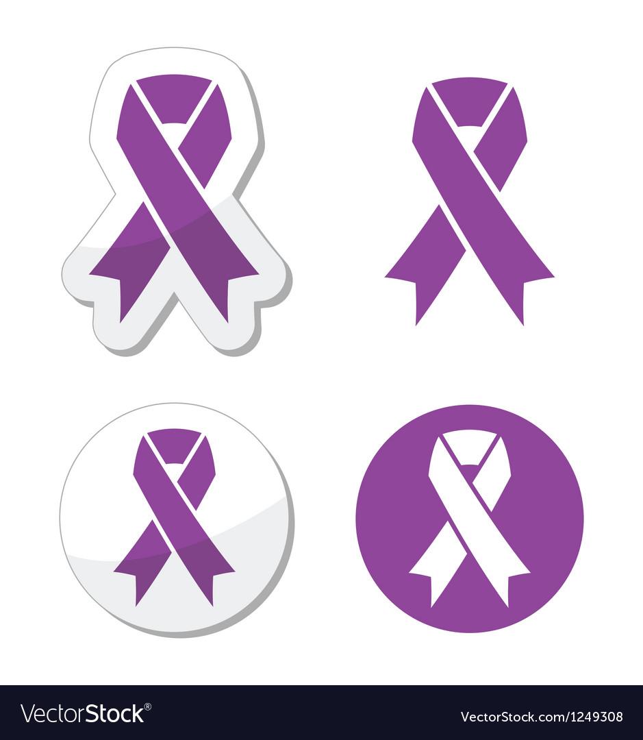 Purple ribbon pancreatic cancer symbol