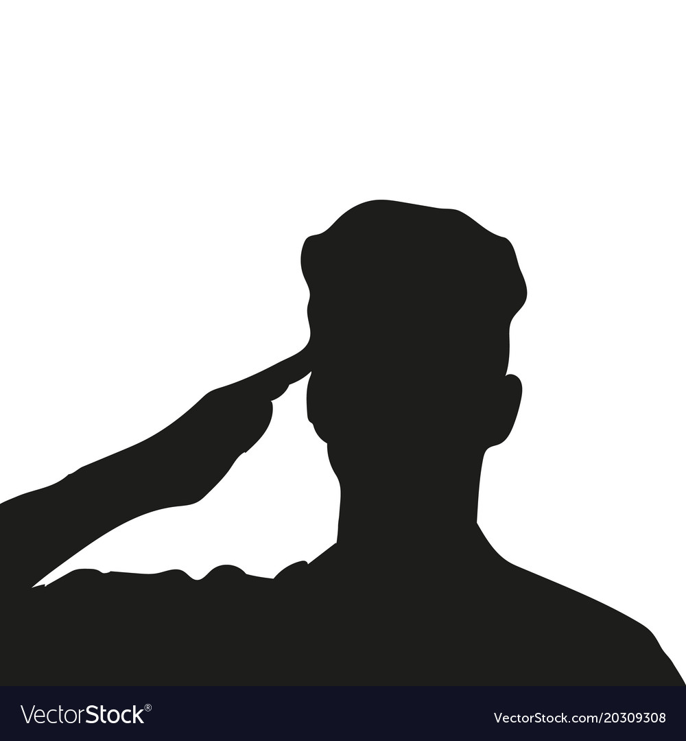 silhouette of an unknown soldier royalty free vector image