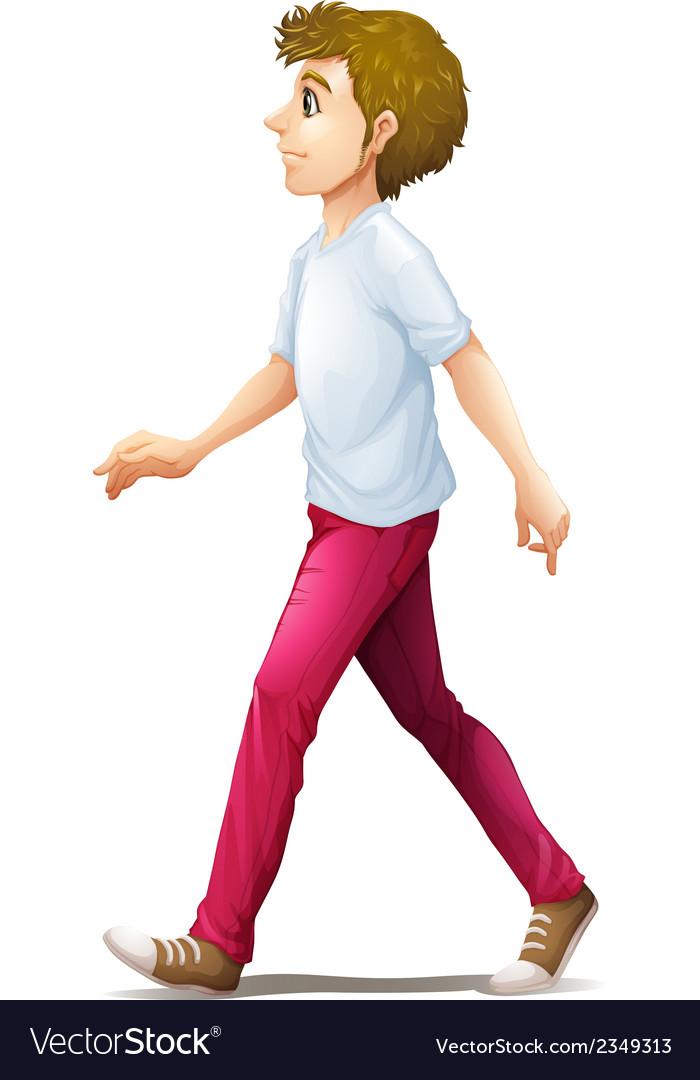 a man walking royalty free vector image vectorstock vectorstock