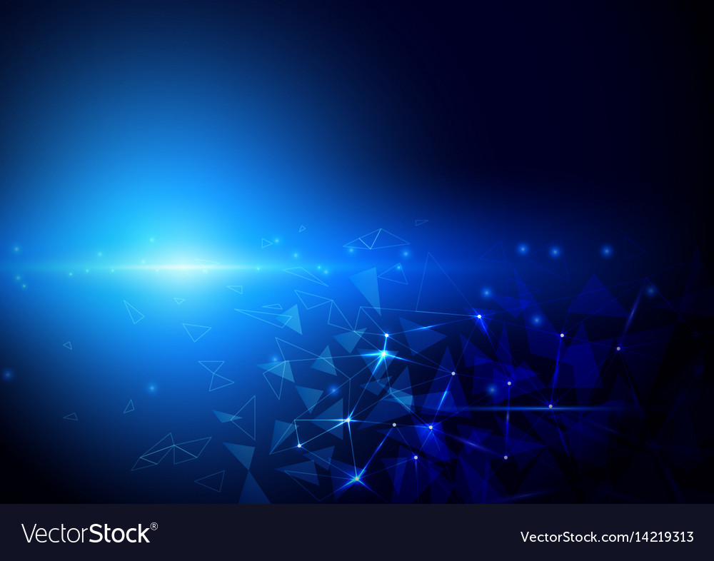 Abstract futuristic polygons and lines technology
