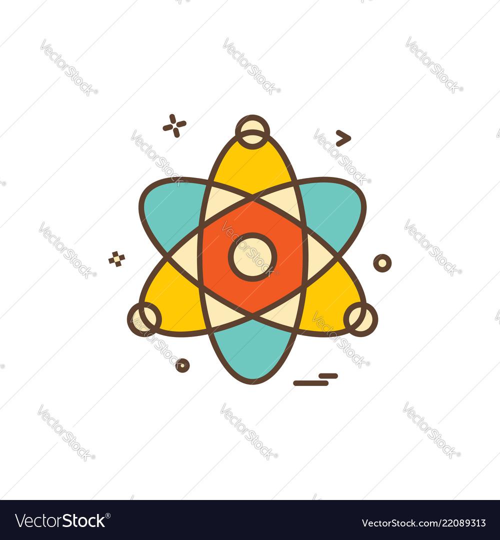 Atom chemistry physics science icon design
