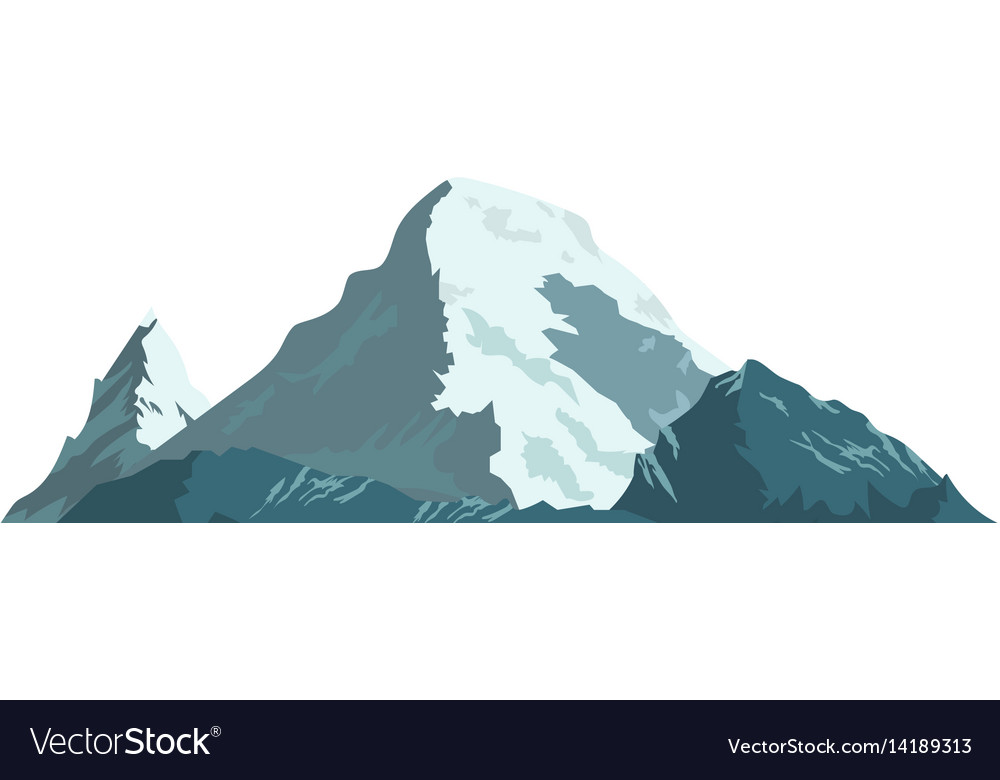 Ice mountain covered with snow