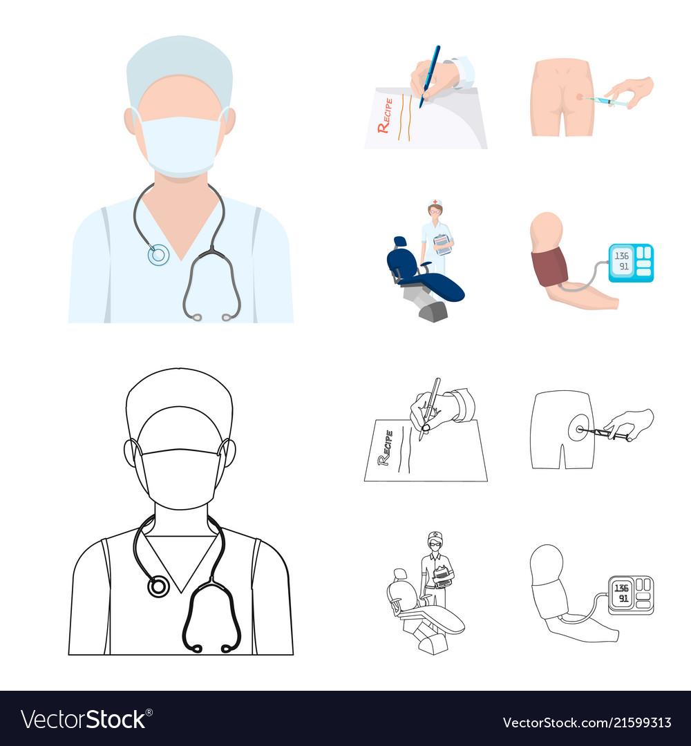 intramuscular injection prescription dentist vector image