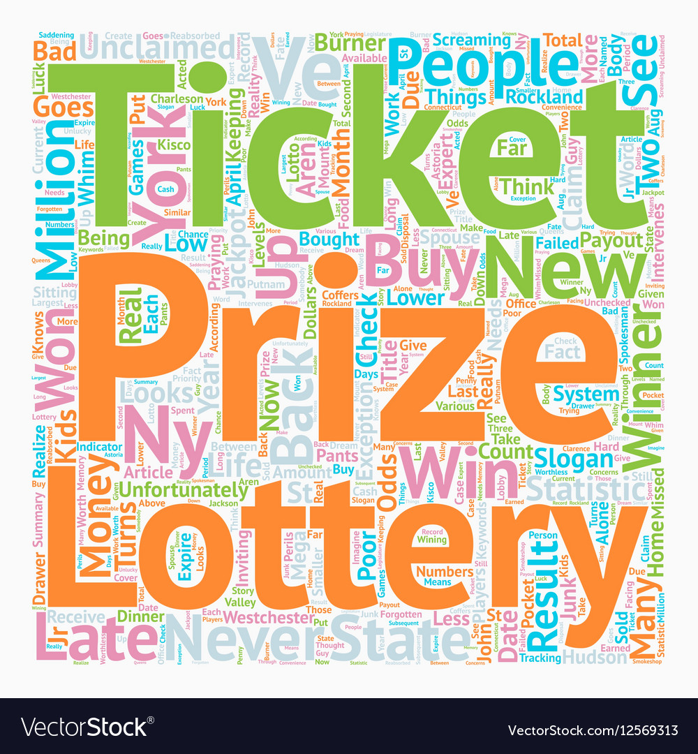 NY Lottery Results text background wordcloud
